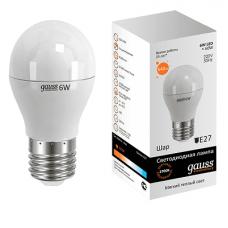 Лампа Gauss LED Globe E27 6.0Вт 2700К