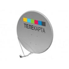 Антенна спутниковая Супрал 0,9-ДФ-1.1 АУМ лого Телекарта